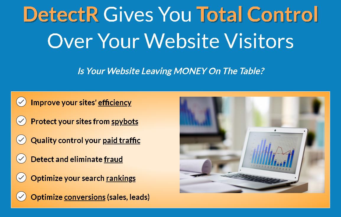 DetectR-GeneratR-Create-Control-Monetize-Website-Traffic